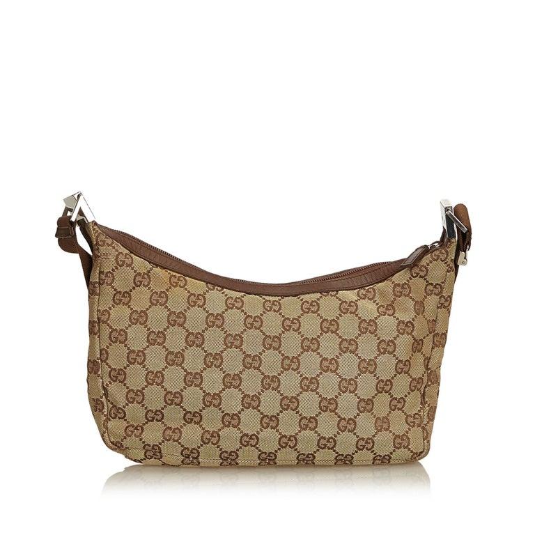 c678b46ac16 Gucci Brown Guccissima Jacquard Crossbody Bag In Good Condition For Sale In  Orlando