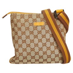 Gucci Brown Guccissima Jacquard Crossbody Bag