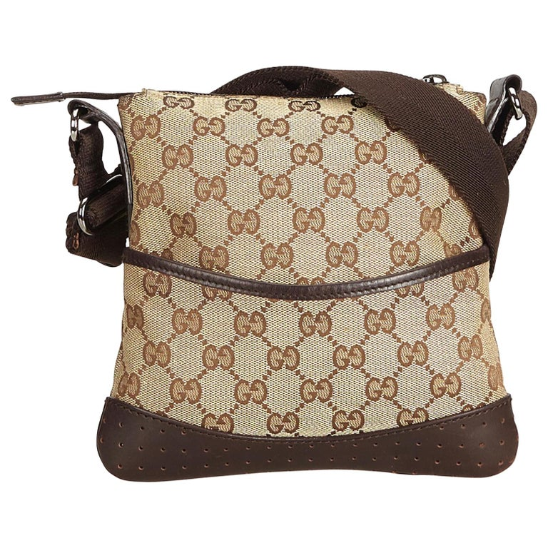 0eb5829baee Gucci Brown Guccissima Jacquard Crossbody Bag at 1stdibs