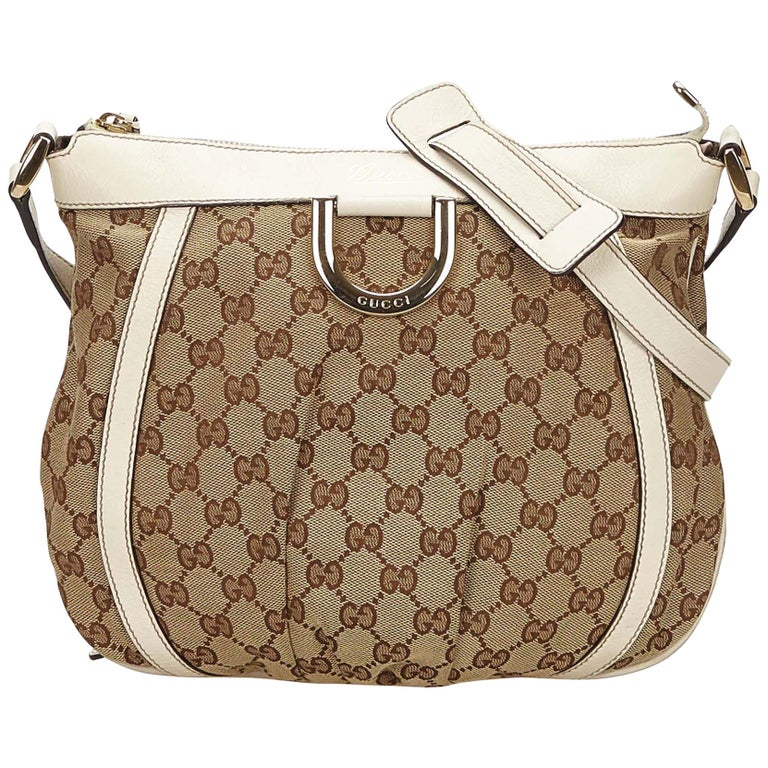 0791da0ed84 Gucci Brown Guccissima Jacquard D-Ring Crossbody Bag at 1stdibs