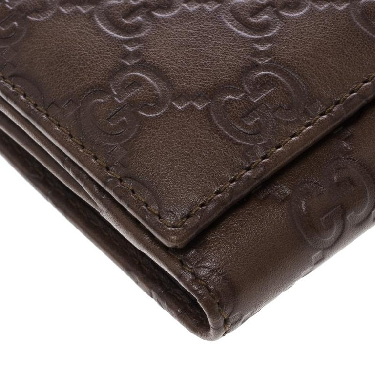 c4575c2a2b6f Gucci Brown Guccissima Leather Britt Continental Wallet For Sale at ...