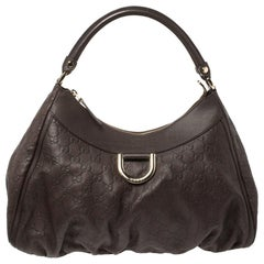 Gucci Brown Guccissima Leather D Ring Hobo