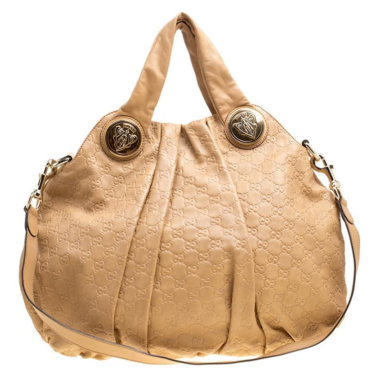1624e5b3b2e Gucci Brown Guccissima Leather Large Hysteria Hobo For Sale at 1stdibs