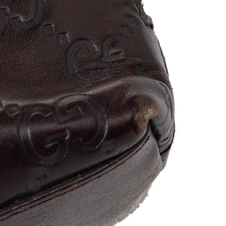 Gucci Brown Guccissima Leather Pouch For Sale 5