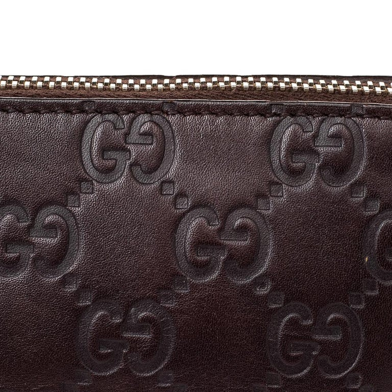 Gucci Brown Guccissima Leather Pouch For Sale 6