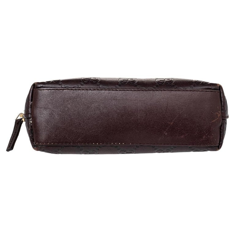 Black Gucci Brown Guccissima Leather Pouch For Sale