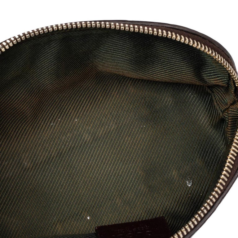 Gucci Brown Guccissima Leather Pouch For Sale 1
