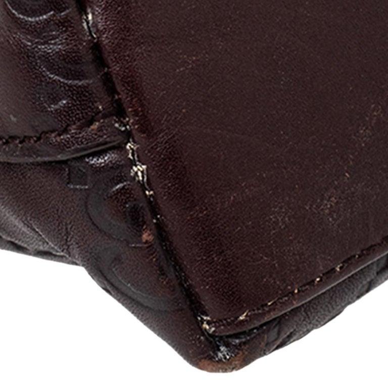 Gucci Brown Guccissima Leather Pouch For Sale 3