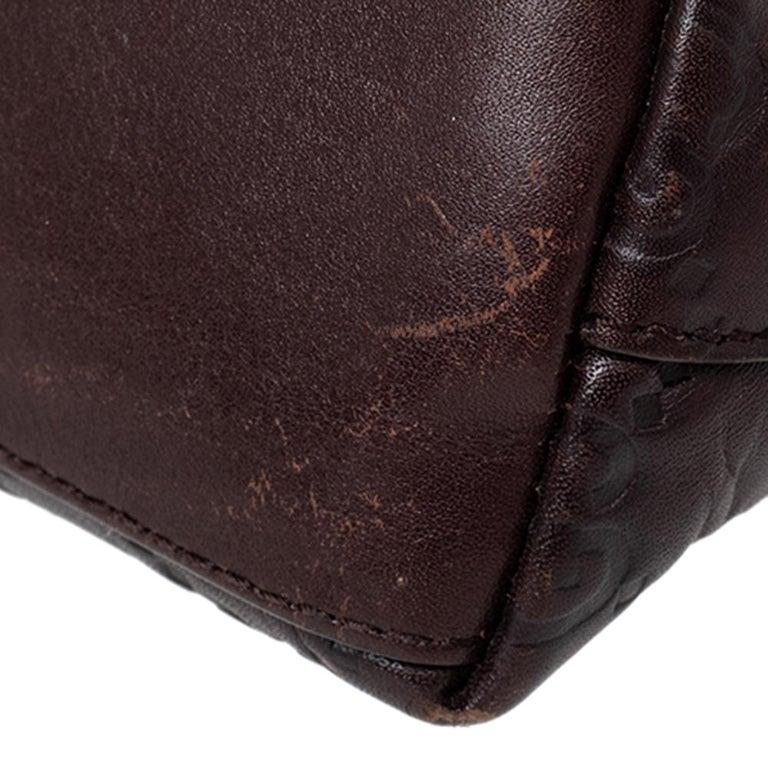 Gucci Brown Guccissima Leather Pouch For Sale 4