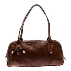 Gucci Brown Guccissima Leather Princy Boston Bag