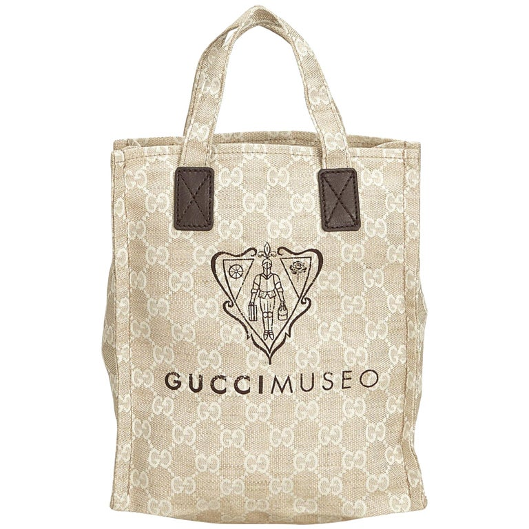 a79bcb42758 Gucci Brown Guccissima Museo Tote Bag For Sale at 1stdibs