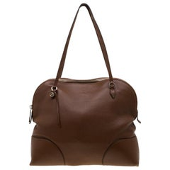 Gucci Brown Leather Bree Dome Satchel
