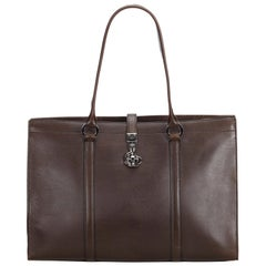 Gucci Brown  Leather Business Bag Italy