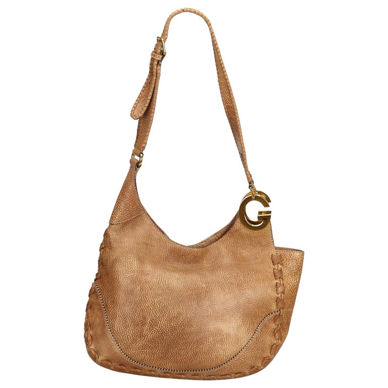 ebd0b60be31 Gucci Brown Leather Charlotte Hobo at 1stdibs