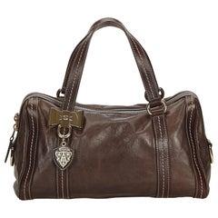 Gucci Brown Leather Duchessa Boston Bag