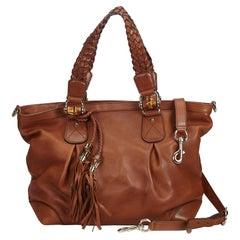 Gucci Brown Leather Eva Tote Bag