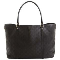 Gucci Brown Leather Guccissima Tote Bag