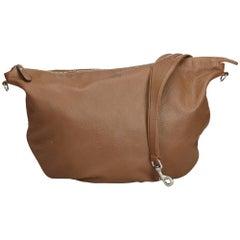 Gucci Brown Leather Half Moon Hobo Bag