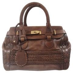 Gucci brown leather handle shoulder bag