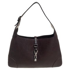 Gucci Brown Leather Jackie Hobo