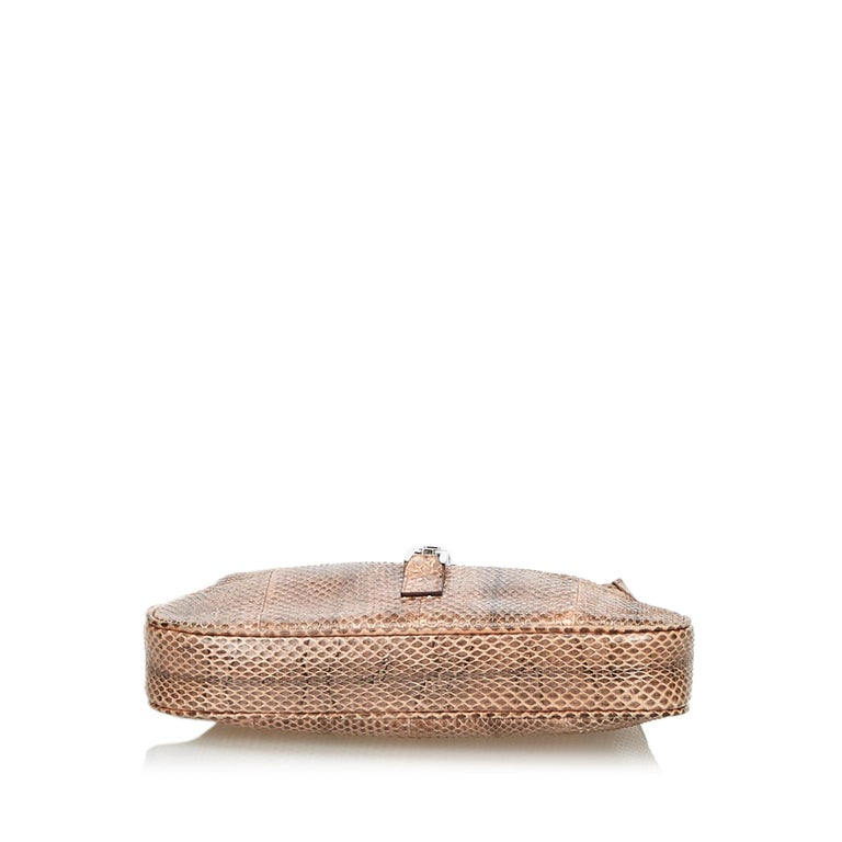 Women's Gucci Brown Leather Jackie Shoulder Bag For Sale