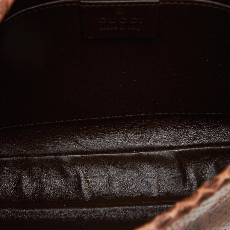 Gucci Brown Leather Jackie Shoulder Bag For Sale 1