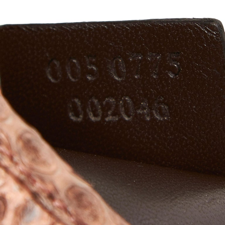 Gucci Brown Leather Jackie Shoulder Bag For Sale 3