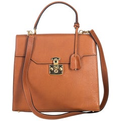 Gucci Brown Leather Kelly Satchel