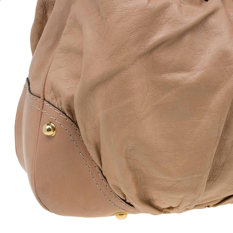 Gucci Brown Leather Large Jockey Hobo For Sale 6