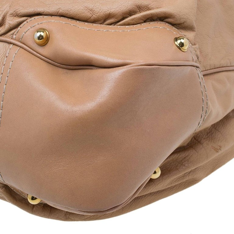 Gucci Brown Leather Large Jockey Hobo For Sale 7