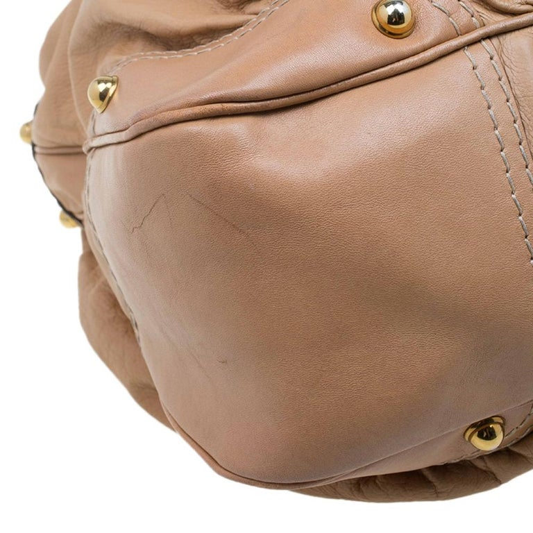 Gucci Brown Leather Large Jockey Hobo For Sale 8