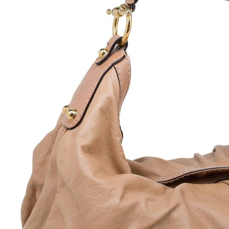 Gucci Brown Leather Large Jockey Hobo For Sale 3