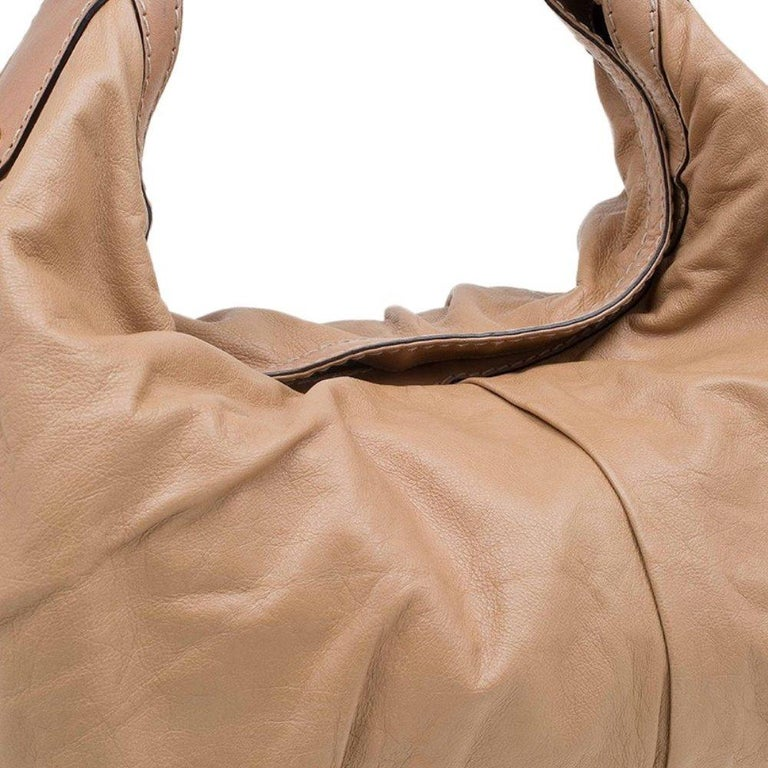 Gucci Brown Leather Large Jockey Hobo For Sale 4