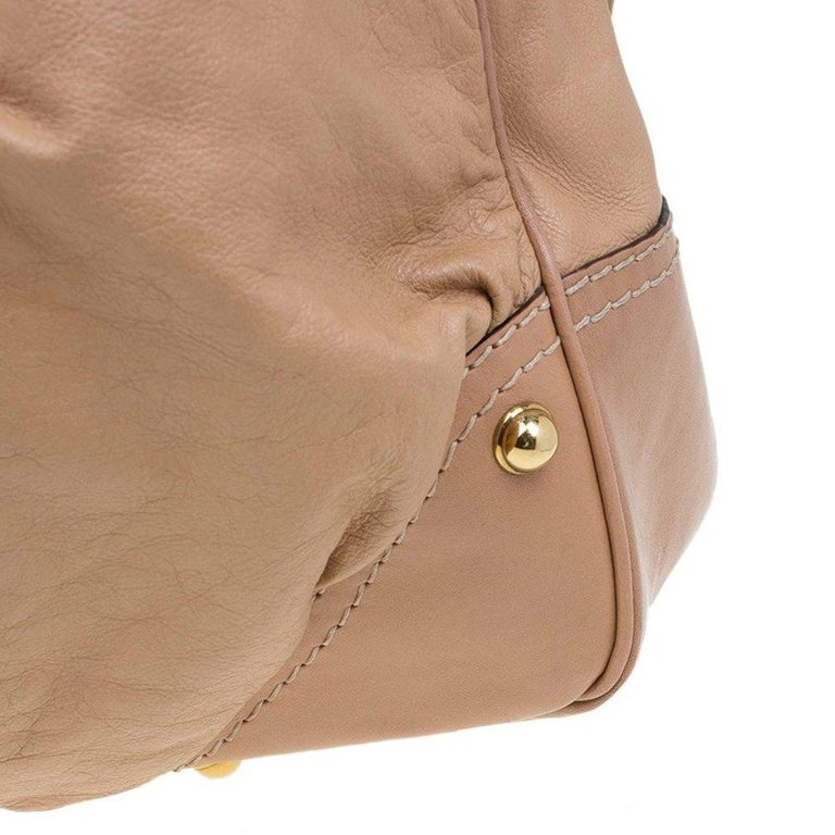 Gucci Brown Leather Large Jockey Hobo For Sale 5