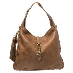 Gucci Brown Leather Large New Jackie Hobo
