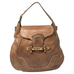 Gucci Brown Leather Large New Pelham Hobo