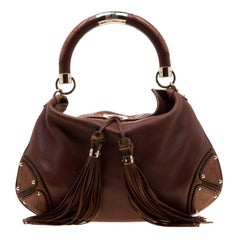 Gucci Brown Leather Medium Indy Hobo