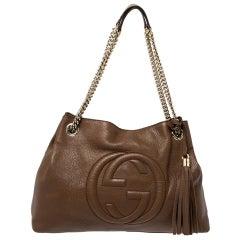 Gucci Brown Leather Medium Soho Shoulder Bag
