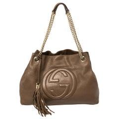 Gucci Brown Leather Medium Soho Tote