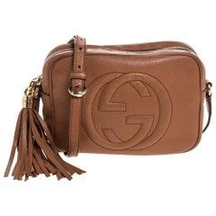 Gucci Brown Leather Small Soho Disco Crossbody Bag