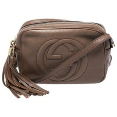 Gucci Brown Leather Soho Disco Crossbody Bag