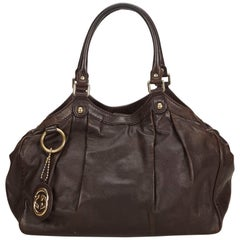 Gucci Brown Leather Sukey Hobo Bag