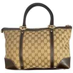 Gucci Brown Medium   GG  Guccissima Monogram Tote Handbag Purse