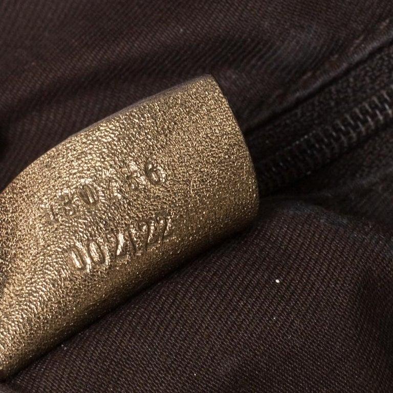 Women's Gucci Brown/Metallic GG Canvas and Leather Medium Jacquard Pelham Shoulder Bag For Sale