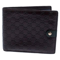 Gucci Brown Microguccissima Leather Bifold Wallet