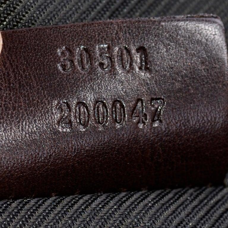 Medium Gucci Brown Monogram Canvas & Leather Tote Bag Handbag  For Sale 5