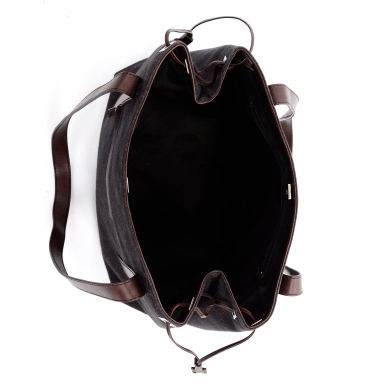 Medium Gucci Brown Monogram Canvas & Leather Tote Bag Handbag  For Sale 1