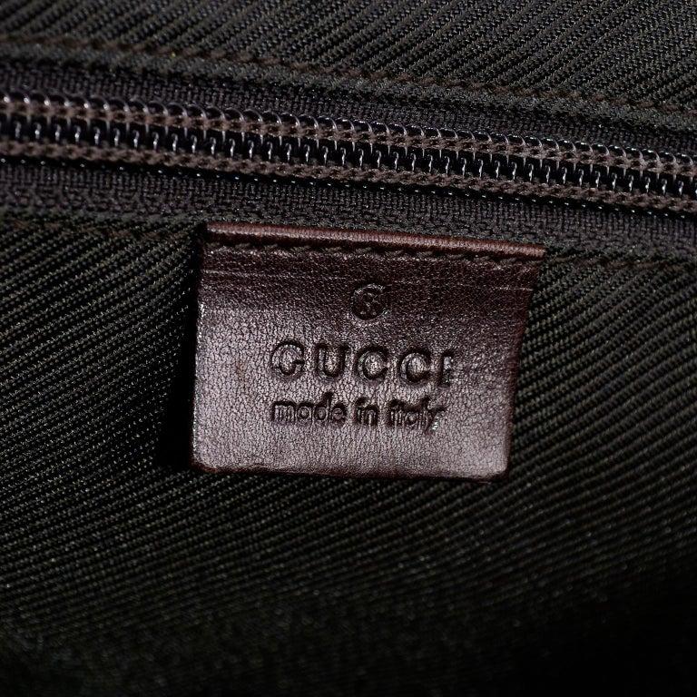 Medium Gucci Brown Monogram Canvas & Leather Tote Bag Handbag  For Sale 4