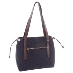 Medium Gucci Brown Monogram Canvas & Leather Tote Bag Handbag