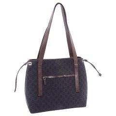 Gucci Brown Monogram Canvas & Leather Tote Bag Handbag